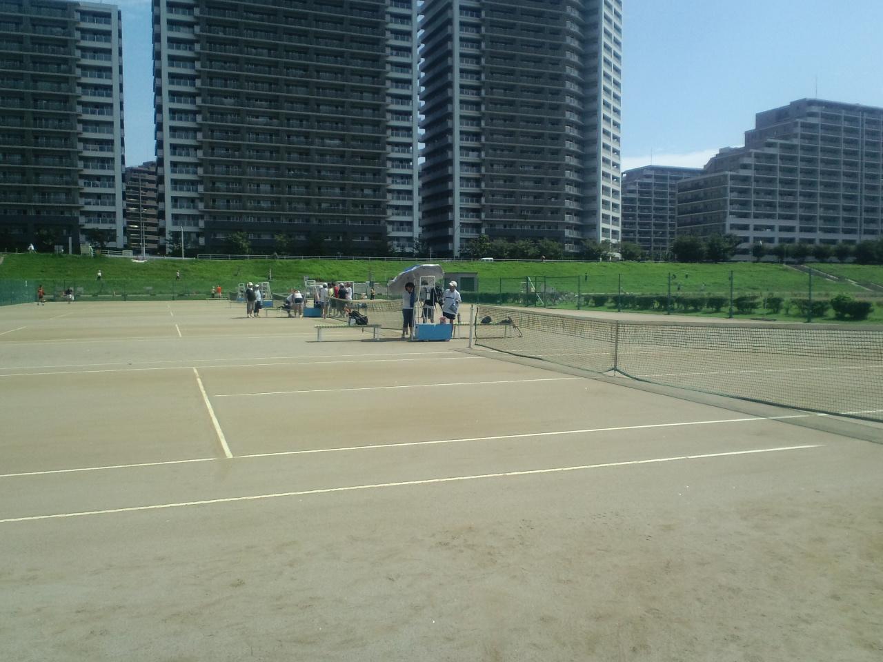 暑い日のテニス